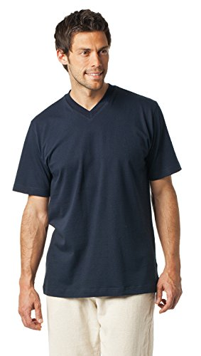 Schiesser American V-Ausschnitt Shirt Doppelpack Darkdenim