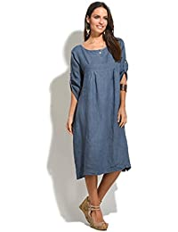 92c38e00b7e Amazon.fr   100 % LIN - Robes   Femme   Vêtements