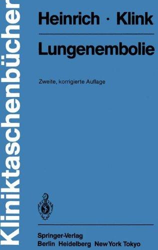 Lungenembolie (Kliniktaschenbücher)