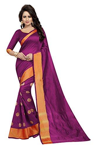 J B Fashion Women's Multi Colour Bhagalpuri Silk Saree With Blouse Material...
