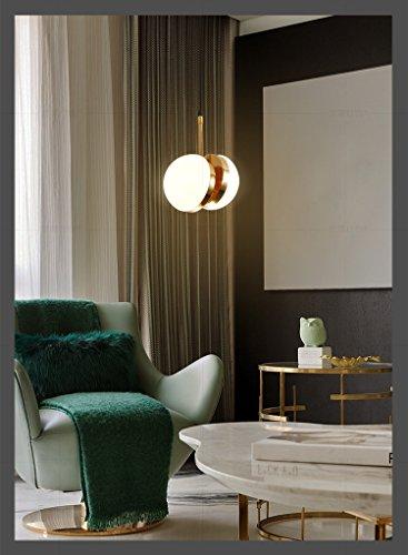Ehime Modernes, minimalistisches Restaurant Kronleuchter kreative Persönlichkeit led Eisen Beleuchtung Milch weißem Glas Esstisch Kronleuchter 20 * 74 cm -