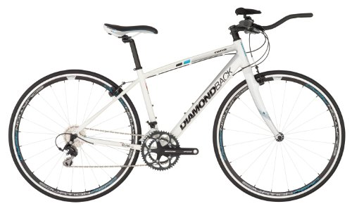 Diamondback 2013Damen-Intervall Elite Performance Hybrid Bike Pearl White/Blue