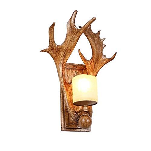 ZLMAY Lámpara de Pared Decorativa del país Americano, lámpara de la cabecera...