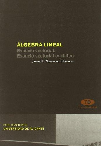 Álgebra lineal: Espacio vectorial. Espacio vectorial euclídeo (Textos docentes) por Juan Francisco Navarro Llinares