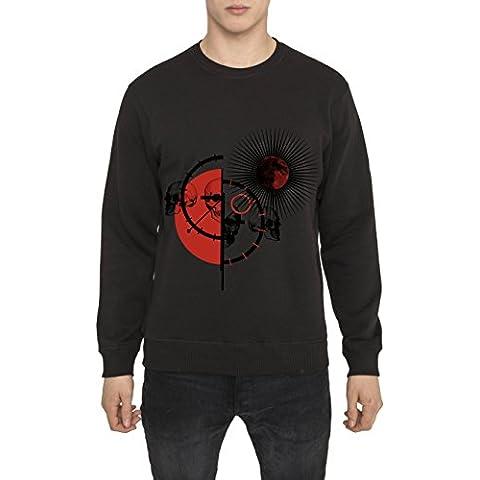 Sudaderas de Algodón para Hombre - Sudadera Negra con Estampada - RED MATADOR Cool Fashion Graphic 3D Print Sweatshirt, Cuello redondo, Manga larga, Ropa Moda Designer para Hombres S M L XL