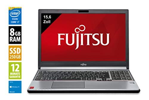 Fujitsu Lifebook E754 | Notebook | Laptop | 15,6 Zoll (1366x768) | Intel Core i7-4610M @ 3,0 GHz | 8GB DDR3 RAM | 250GB SSD | DVD-Brenner | Windows 10 Home (Zertifiziert und Generalüberholt)