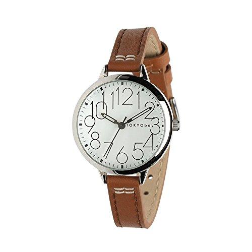 tokyobay-sovra-orologio-colore-marrone-chiaro