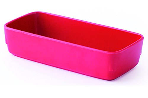 LOT DE 10 RAVIERS RECTANGULAIRES MELAMINE ROUGE L155 x lg70 x H35 mm. 38cl