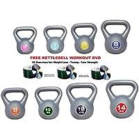 UK Fitness Vinyl Kettlebells 2kg 4kg 6kg 8kg 10kg 12kg 14kg Singles Pairs Sets training kettlebells FREE KETTLEBELL WORKOUT DVD