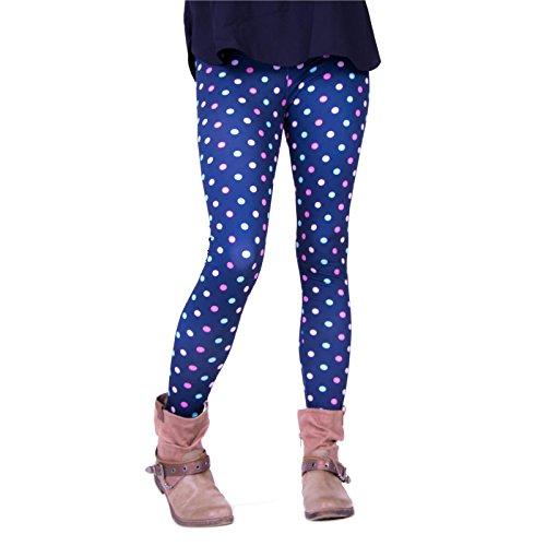 cosey - Bedruckte Bunte Leggins (Einheitsgröße) - Leggings Design Colorful Dots Dot Print Legging