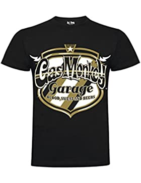 GAS MONKEY T-SHIRT NEW 2018 COLLECTION - GMG TEXAN GOLD BADGE