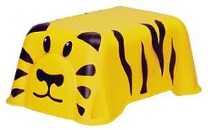 Curver 811444 Enfants Marche-Pied Tigre Jaune