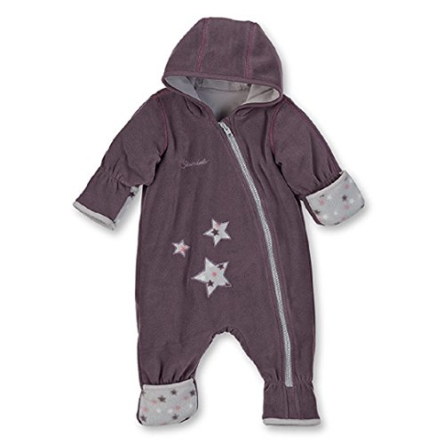Sterntaler Baby Fleece Overall Anzug aubergine 5501701 (74, aubergine)