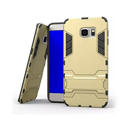 ZhinkArts Armor Hybrid Case Outdoor für IPhone und Samsung Cover Schale Schutz Hülle Panzer Ständer Klapp Apple IPhone 6/6S Schwarz Blau