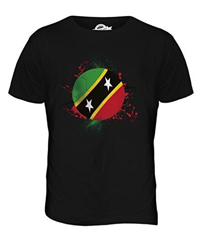 CandyMix St. Kitts Und Nevis Fußball Herren T Shirt Schwarz