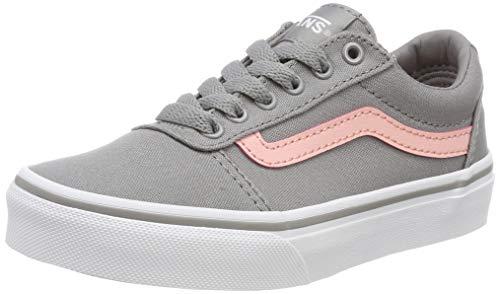 Vans Unisex-Kinder Ward Canvas Sneaker  ,Grau (Leinwand) Grau / Rosa F8t) , 27.5 EU (Und Grau Rosa High-top-schuhe)