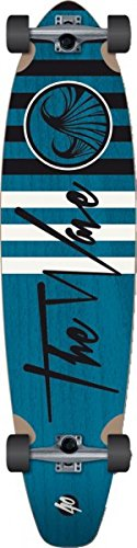 Wave Longboard Pintail Complete-Board Linear Red 39.5 with Koston ball bearings