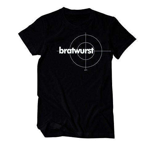 Bratwurst im Tatort Style Grill T-Shirt Herren schwarz XXXX-Large Schwarz