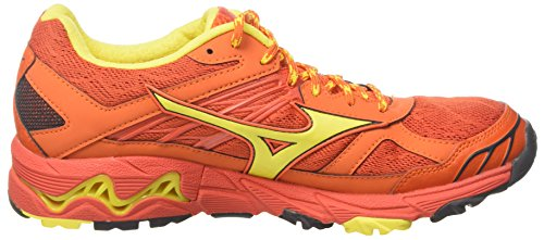 Mizuno Wave Mujin, Chaussures de Running Homme Multicolore (Grenadine/blanzingyellow/redorange)