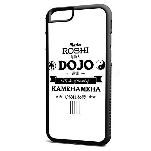 Smartcover Case Master Roshi Dojo z.B. für Iphone 5 / 5S, Iphone 6 / 6S, Samsung S6 und S6 EDGE mit griffigem Gummirand und coolem Print, Smartphone Hülle:Iphone 6 / 6S schwarz Iphone 6 / 6S schwarz