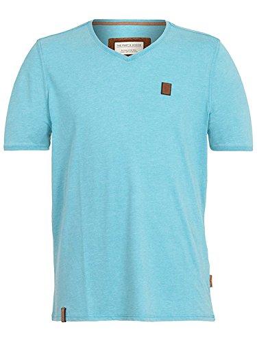 Naketano Male T-Shirt Schimpanski VIII heritage fresh blue melan