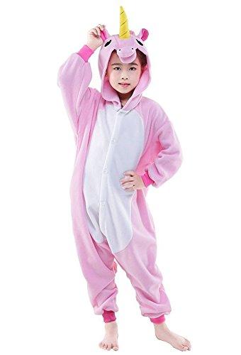 Imagen de traje de dormir infantil animales disfraces pyjamas dibujos animados cosplay onesize navidad carnaval–très chic mayo landa pink pferd xl/altura 130 140 cm etiqueta 116 cm
