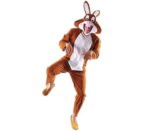 Imagen de disfraz de conejo marrón para adultos