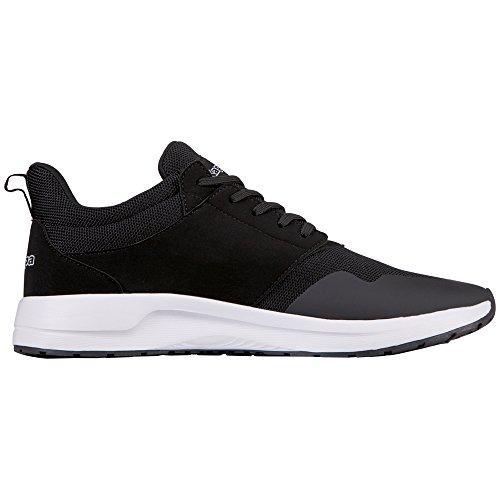 Kappa Unisex-Erwachsene Tray II Sun Sneaker Schwarz (White/Black)