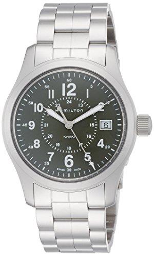 Hamilton Khaki Field / orologio uomo / quadrante verde / cassa e bracciale acciaio