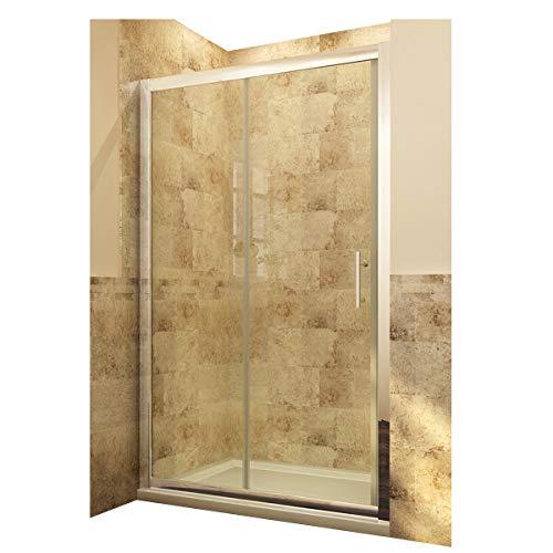 Neueröffnung 1500mm Nische Einzel Schiebetür Dusche Duschabtrennung Glas links/rechts