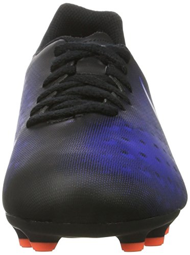 Nike 844204-016, Chaussures de Football Mixte Adulte Noir (Black/white/paramount Blue/hyper Orange)
