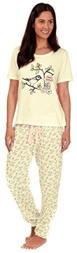 Femmes Coton Jersey Léger Set Pyjama Tweed Dreams