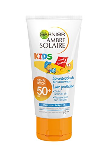 Garnier Ambre Solaire Sonnencreme Kids / Sonnenschutz-Milch für Kinder extra wasserfest / LSF 50+, 1er Pack - 50 ml