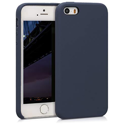kwmobile Apple iPhone SE / 5 / 5S Hülle - Handyhülle für Apple iPhone SE / 5 / 5S - Handy Case in Dunkelblau matt