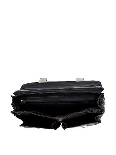 Bugatti George Aktentasche Leder 42 cm schwarz