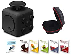 Idea Regalo - Fidget Cube Relieves Stress And Anxiety, Fidget Toy Fun Cube Anxiety Attention Toy for Children and Adults with ADHD ADD OCD Autism (BLACK)