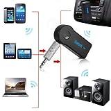 K.O.W @, ricevitore Bluetooth wireless da 3,5mm, per stereo, musica,auto, cellulare, computer, tablet Mac, vivavoce altoparlante, compatibile con Mic.