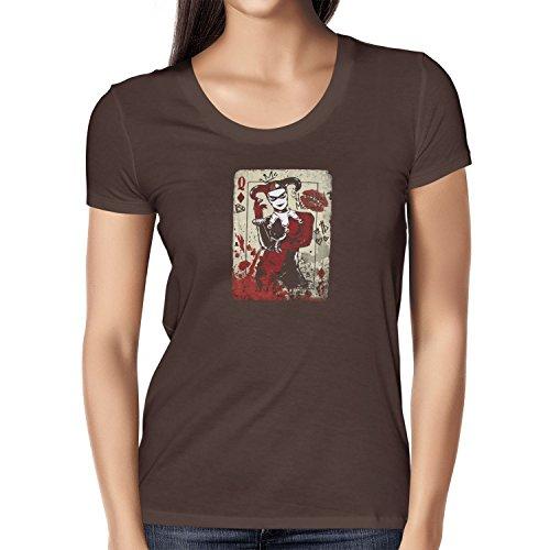 Texlab Harley Queen - Damen T-Shirt, Größe XL, Braun