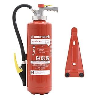 Feuerlöscher Neuruppin 6kg ABC Pulver Auflade- Löscher EN3, PG 6 FAIN, 12 LE + ANDRIS® Prüfnachweis und Extras