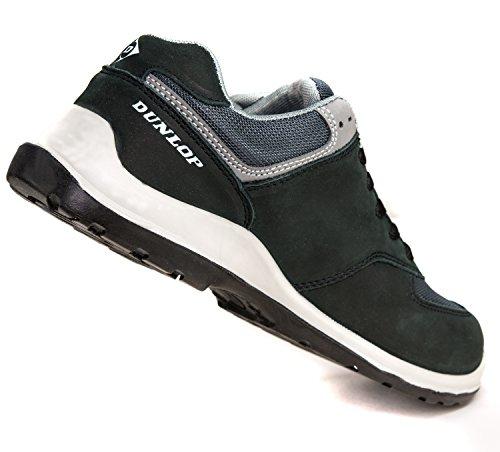 Dunlop Flying Arrow   Chaussure de Sécurité   Chaussures de Travail S3   avec Embout   Légères & Respirantes   Baskets de Protection de Travail Noir