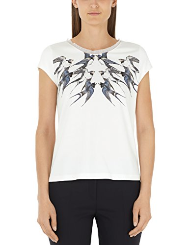 Marc Cain Collections Damen T-Shirt Mehrfarbig (Off-White 110)