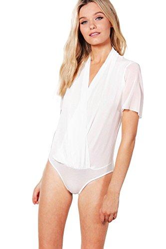 Damen Elfenbein Rebecca Body Mit Drapierter Front Elfenbein
