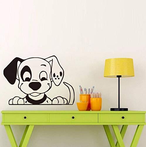 Pbldb 44X61 Cm Dalmatinischen Hund Schaute Nach Unten Wandaufkleber Niedlichen Design Hund Aufkleber Für Kinderzimmer Dekoration Wohnkultur