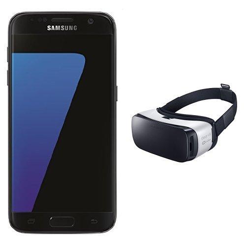 Samsung Galaxy S7 Smartphone (schwarz) + Samsung Gear VR Virtual Reality Brille (weiß)