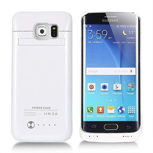 Coolead - Custodia con batteria esterna da 4200 mAh, con supporto per Samsung Galaxy S6 Edge bianco