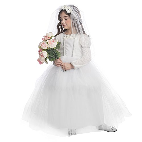 Dress Up America Brautprinzessin Kostüm Hübsches kleines Hochzeitskleid Kostüm für ()