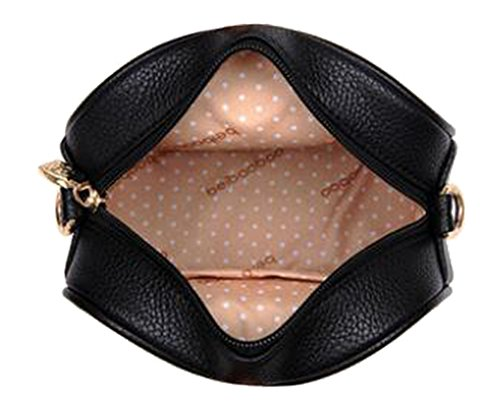 FAIRYSAN Mini Messenger Bags stile Retro nero Blu navy
