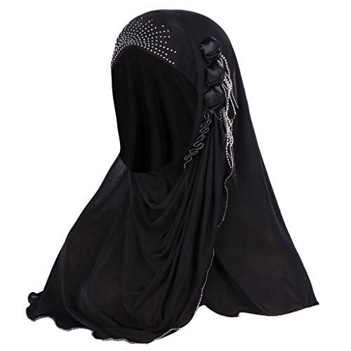 ZEELIY Damen Turban Hut Hals Chemo Kappe Haar Kopftuch Islamischen Abaya Dubai Frauen Elegante Gesichtsschleier Hidschab Schal Ramadan Kopfbedeckung Hijab -