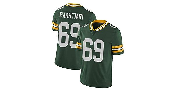 David Bakhtiari Green Bay Packers 69 Männer Rugby Jersey American Football Fans Sport Kurzarm T Shirts Tops Grün Bequem Atmungsaktiv 3xl 197cm Bekleidung