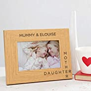 Personalised Mother Daughter Wooden Photo Frame/First Mothers Day Gifts from baby daughter/Mum Picture Frame/E